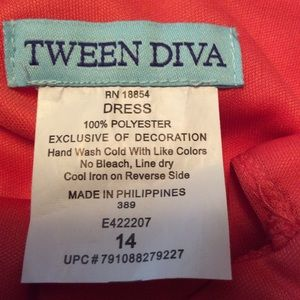 Tween Diva Dresses - Tween Diva Peach dress